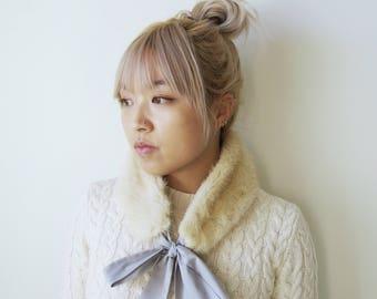 Mink fur scarf / ear warmer / hat / head wrap / ear muff /earmuff