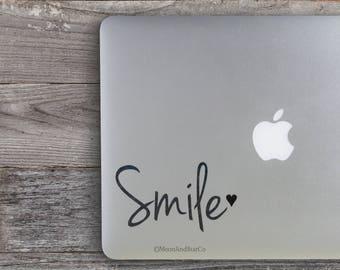 Smile                 , Laptop Stickers, Laptop Decal, Macbook Decal, Car Decal, Vinyl Decal