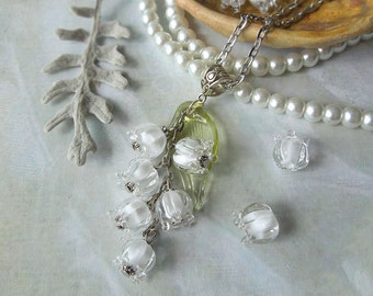 Lilies of the valley, May-lily, Glass flower, Jewelry lilies, Jewelry glass, Pendant Lilies of the valley