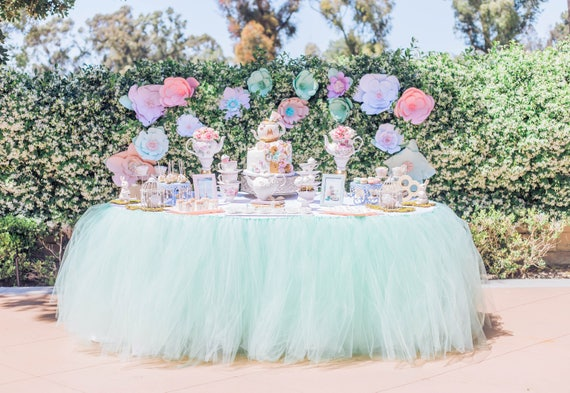 Mint Green Tutu Table Skirt By Five Whimsy Lane Catch My