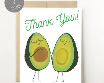 Thank You Cards Baby Shower - Gender Neutral Baby Shower -  Thank you from the future parents - Avocado Couple -Baby Shower GIft