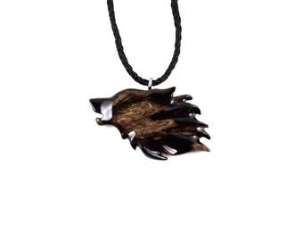Wolf Necklace, Wolf Pendant, Mens Wolf Necklace, Wolf Jewelry, Wooden Wolf Pendant, Mens Wolf Pendant, Mens Tribal Necklace, Mens Jewelry