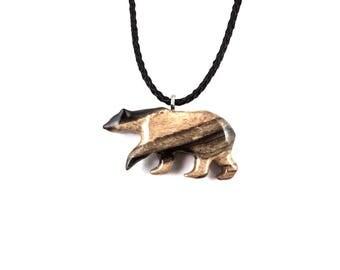 Bear Necklace, Polar Bear Pendant, Polar Bear Neckace, Bear Pendant, Mens Bear Pendant, Bear Jewelry, Spirit Animal Bear, Totem Bear Jewelry