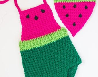 Watermelon Romper/ Watermelon outfit/ Watermelon Shirt/ Girls clothes/ Girls shirts/