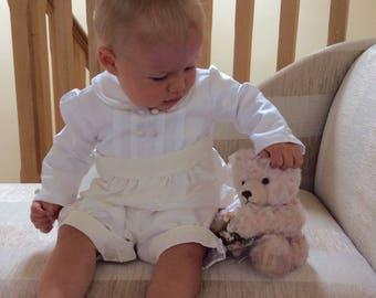 Boys Christening Gown romper suit - Sebastian First Blessings romper - Baptism baby boy - Blessing Gown - Royal Wedding