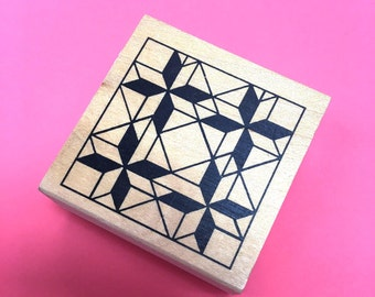 Quilt Craft Stamp Quilting Patterns Rubber Stamp Geometric