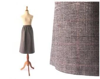Grey Skirt, XL Skirt, machine washable, large Vintage Skirt, Wool SKirt, Womens Skirt, Vintage Clothing Wool SKirt