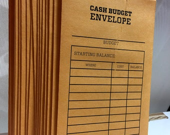 Less Than Perfect: Cash Budget Envelope