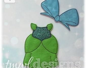 Stepsister Ballgown Felt Paper Doll Outfit Digital Design File - 5x7