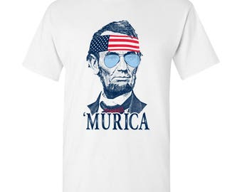 President Abraham Lincoln MURICA T-Shirt