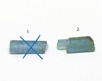 Raw aquamarine Crystal Rough Natural crystal specimen Real stone beryl stone sell per piece (O.010)