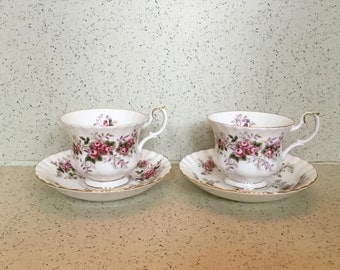 Pair of Royal Albert Lavender Rose 1961