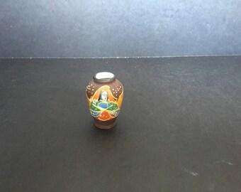 Miniature Satsuma Style Vase - MIJ
