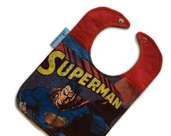 Superman Baby Bib • Superman Tshirt Bib • Baby Shower Gift •