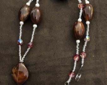 Brown Leaf Necklace