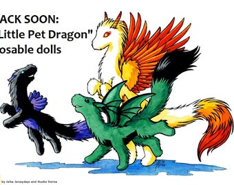 INFORMATION new posable pet dragon dolls available in mid September