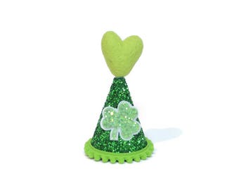 Saint Patty's Day Birthday Party Hat || March Birthday Hat || Shamrock Hat || St Patrick Party Hat Baby