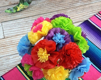 NEW - FIESTA Mixed Flowers Tissue Paper Flowers (12 count)