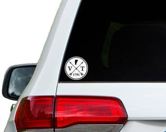 Vermont Arrow Year Car Window Decal Sticker