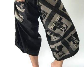 SR0179 Samurai Pants Harem pants have fisherman pants style wrap around waist
