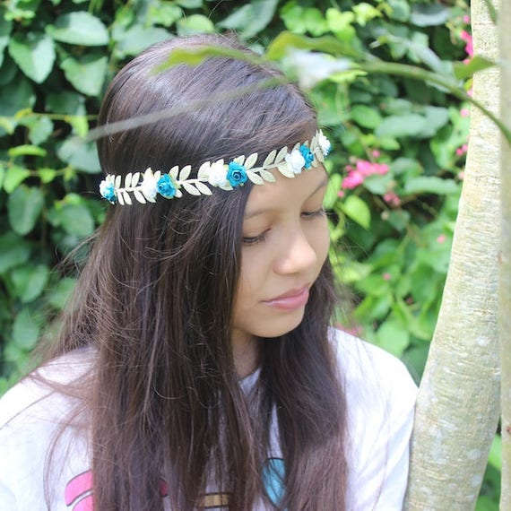 Gold Boho Headband,  Grecian Flower Headband, Bohemian Headband, Adult Boho Headband, Gold Girl Headband, Forehead Headband, Halo Headband