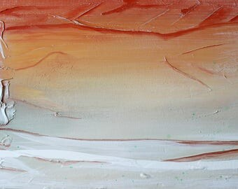 Nordic sunset canvas