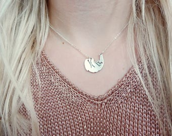 Sloth Animal Silver Necklace Jewellery Jewelry