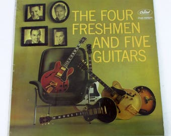 The Four Freshmen and Five Guitars Vinyl LP Record Album T1255