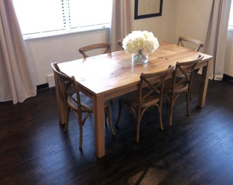 Small Kitchen Table, Reclaimed Wood Parsons Dining Table