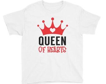 Queen of Hearts, Girls Kids Youth Shirt