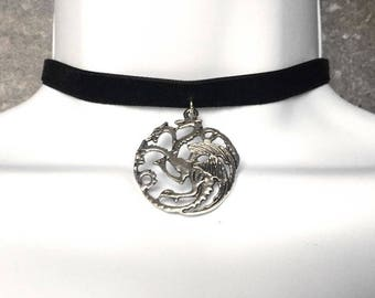 Targaryen House Choker -Game of Thrones Jewelry - Game of Thrones Pendant- Daenerys Targaryen - Khaleesi Jewelry