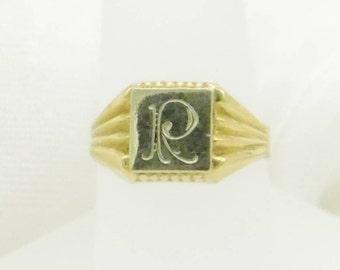 Vintage 1930's Initial/Signet Ring 18kt Gold