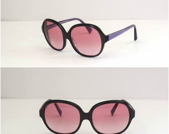 90s Alain Mikli Prescription Eyeglasses/ 1990s Purple Tinted Glasses/ Oversized/ Handmade in France