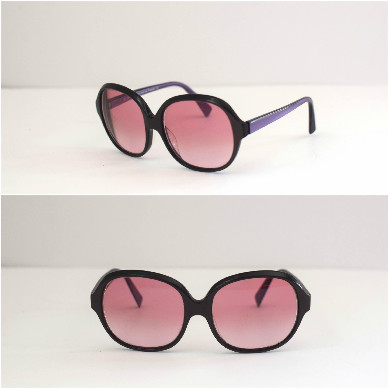 3afae02942 90s Alain Mikli Prescription Eyeglasses  1990s Purple Tinted Glasses   Oversized  Handmade in France