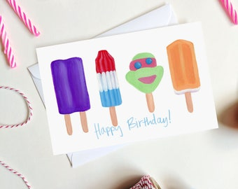 Birthday Popsicles Card - Birthday Card - Summer Birthday