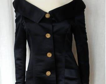 Off the Shoulder Silk Jacket DKNY