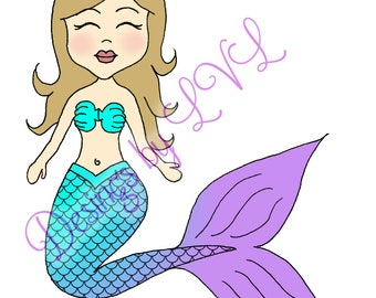Mermaid SVG cut file for Silhouette