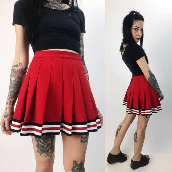 Pleated Cheerleading Mini Skirt Small High Waist - Pleated Cheer/Schoolgirl Mini Skirt Sporty Cheerleader Tennis Style Mini Skirt Uniform