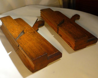 Antique Madox Wood Working Plane & Mutter Plane Circa 18th /19th Century Pair London Made Vintage Tools Hand Made Carpentry Woodwork