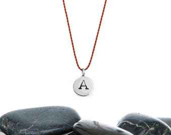 Tiny Initial Wish Necklace in Recycled Sterling Silver