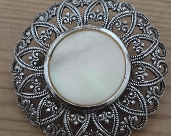 Vintage mother of pearl brooch