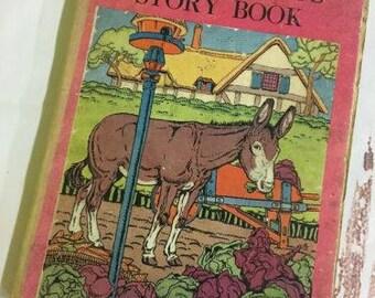 1934 Vintage Children's Book Farm Friends Story