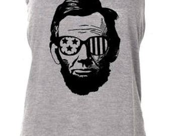 Lincoln...Vintage Independence Day, American, Patriotic, Graphic Tank, July 4th, Fourth of July
