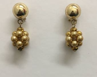 Gold Pearlesque Beaded Earrings