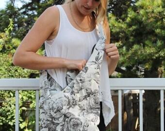 Floral Crossbody Bag - Boho Sling Purse - Floral Hobo Bag - Romantic Floral Bag - Slim Crossbody Purse - Summer Travel Bag - Pool Bag