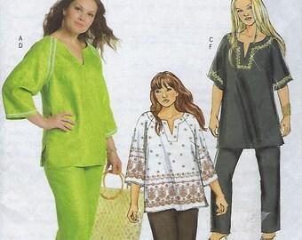 Butterick B4753 Women's/ Women's Petite Tunic And Pants Size (18W-24W)  UNCUT