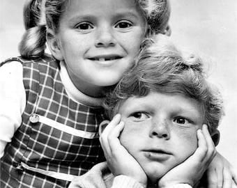 Anissa Jones and Johnny Whitaker from Family Affair , 1960's