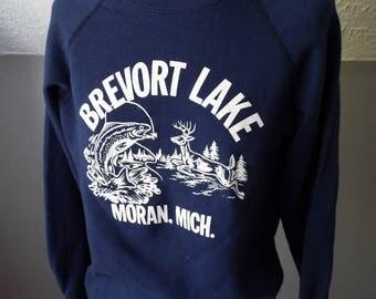 Vintage DEAD STOCK Brevort Lake Long Sleeve Sweatshirt