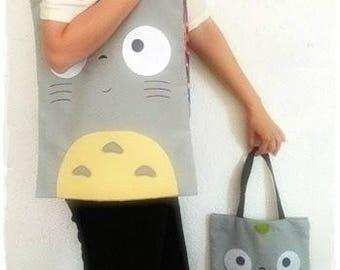Totoro, Totoro bag, Totoro tote bag, tote bag, totoro bag, Totoro, Totoro handbag, handmade bag, personalized bag, bag with name