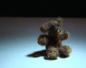 Needle Felted Teddy Bear for Doll House